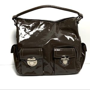 Marc Jacobs Patent Leather Brown Handbag